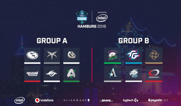 Groups in ESL One Hamburg.