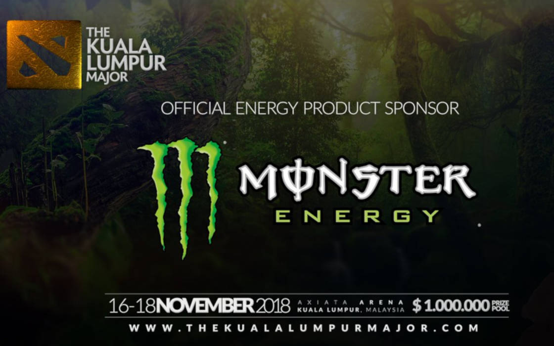Dota 2 Kuala Lumpur and Monster Energy.