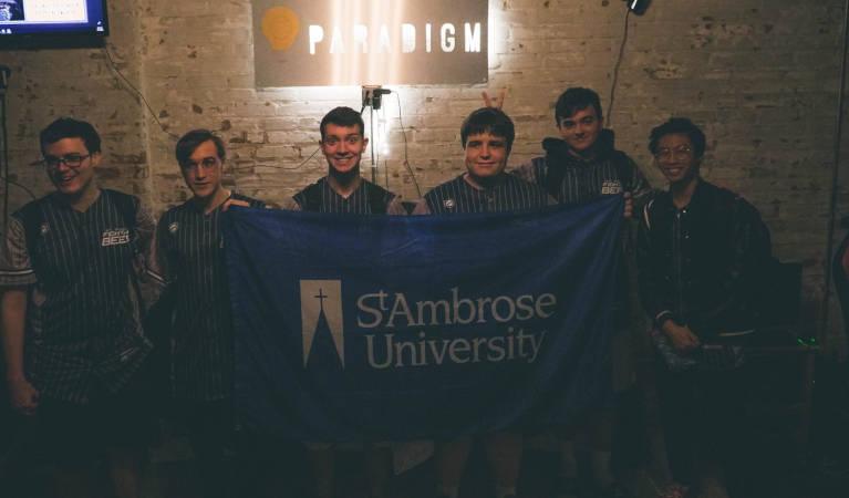 St Ambrose University esports competitors