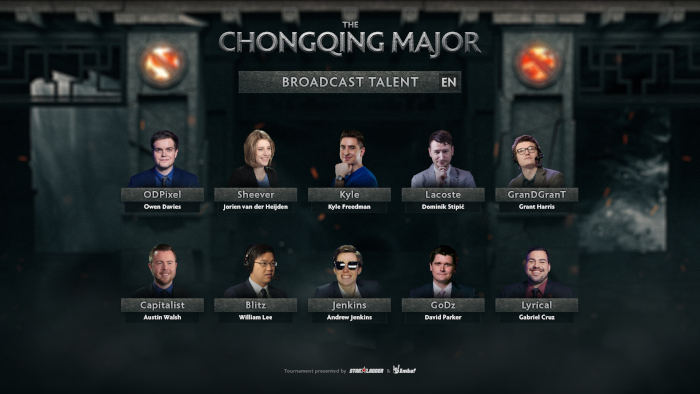 Chongqing casters and commentators.