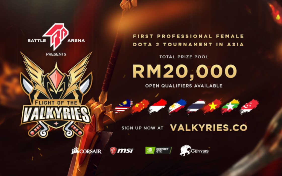 Battle Arena's Valkyries Tournament Dota 2.