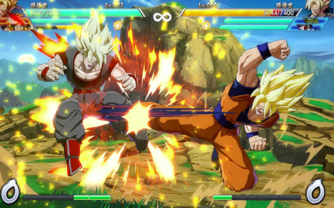 A game of Dragon Ball Fighter Z game