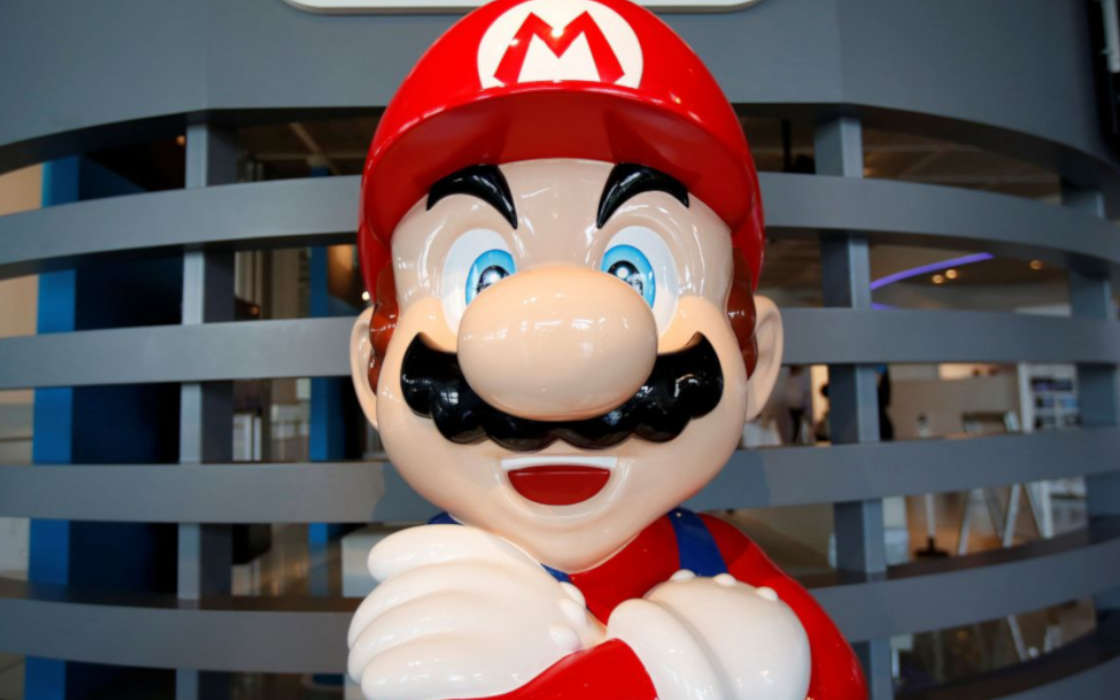 Nintendo's Mario is cross.