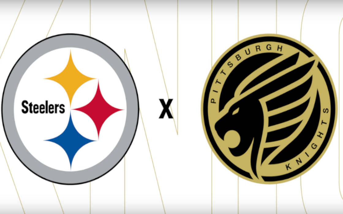 Pittsburgh Knights and Steelers logos.