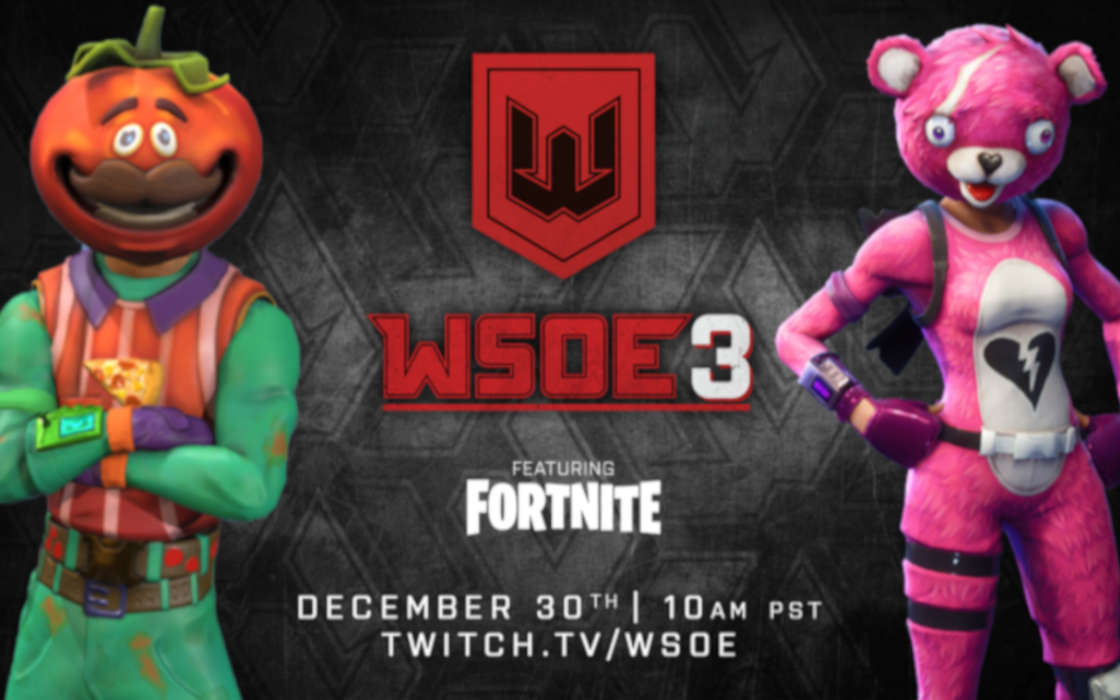 WSOE's upcoming Fortnite tournament.