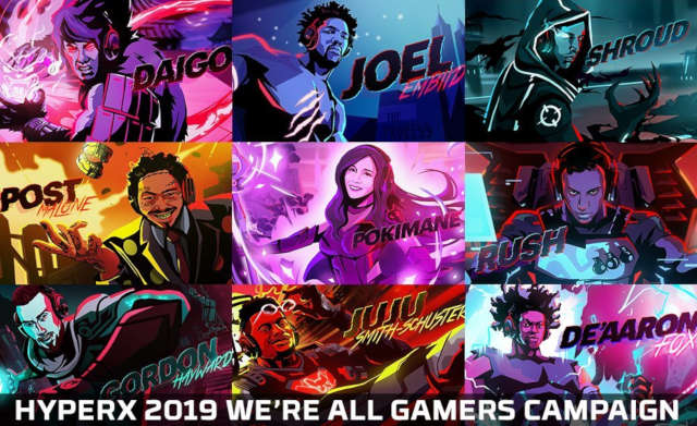 HyperX's We're All Gamers campaign.