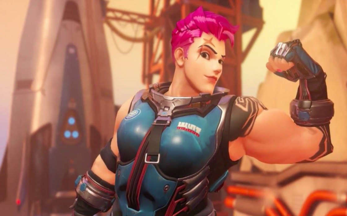 Overwatch League's female character.