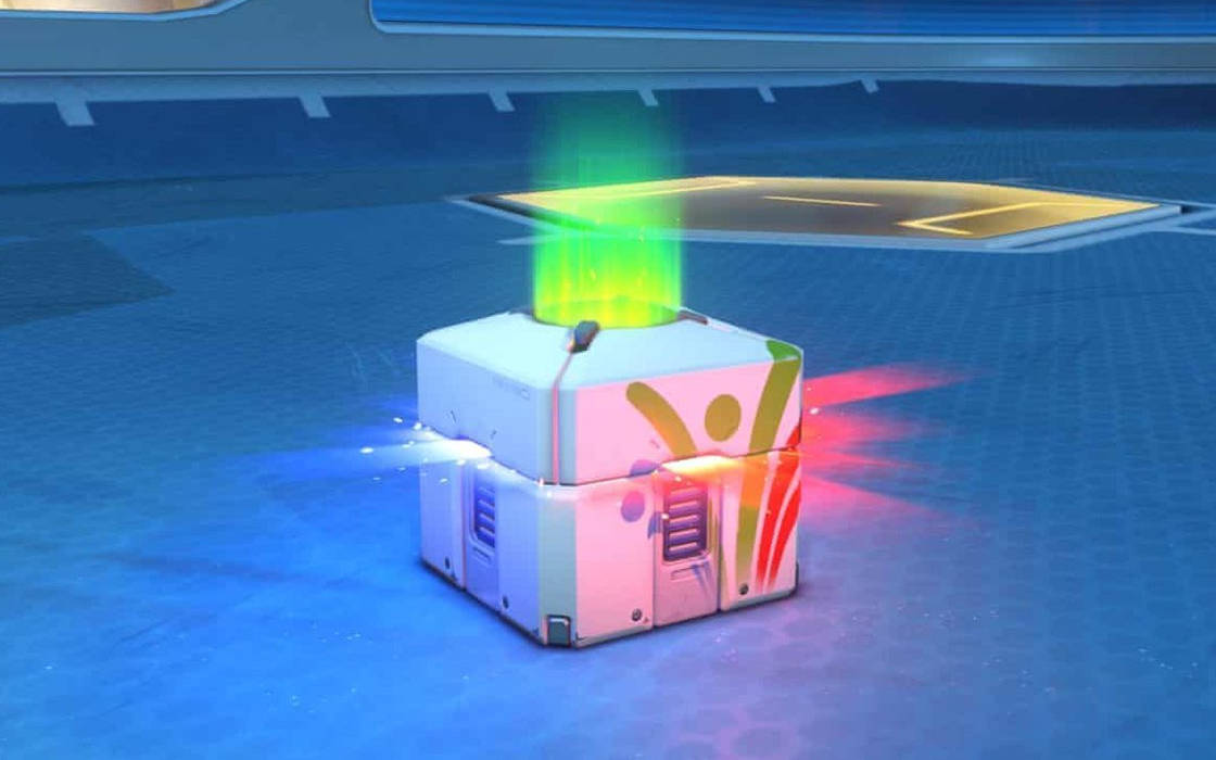 A loot box in a video game.