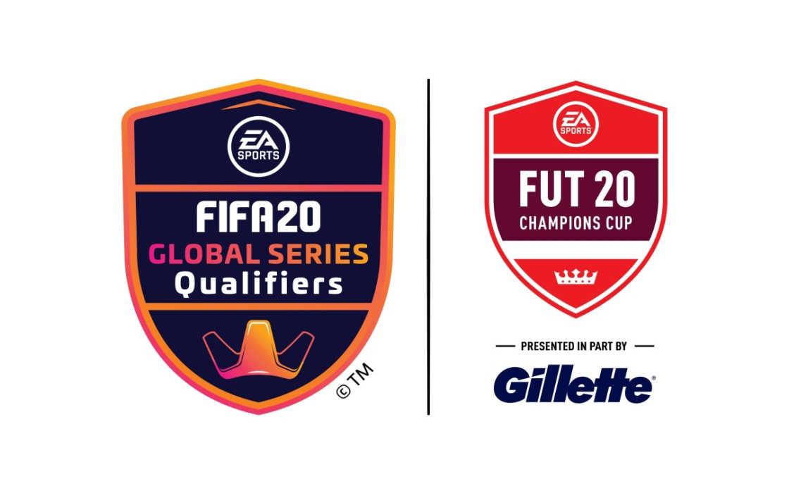 FIFA 20 Global Series and Gillette logos as part of an official partnership