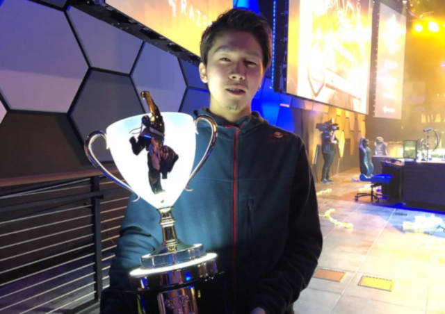 "Kanamori ""Gachikun"" Tsunehiro, the winner of last year's Capcom Cup."
