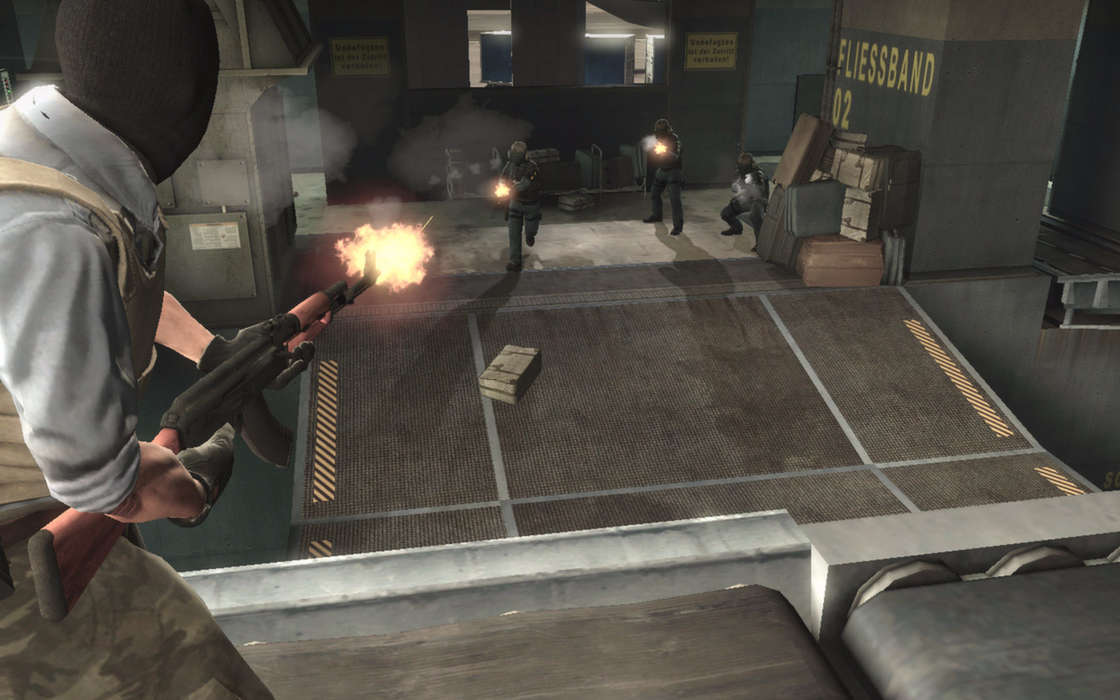 A shootout between CS:GO characters