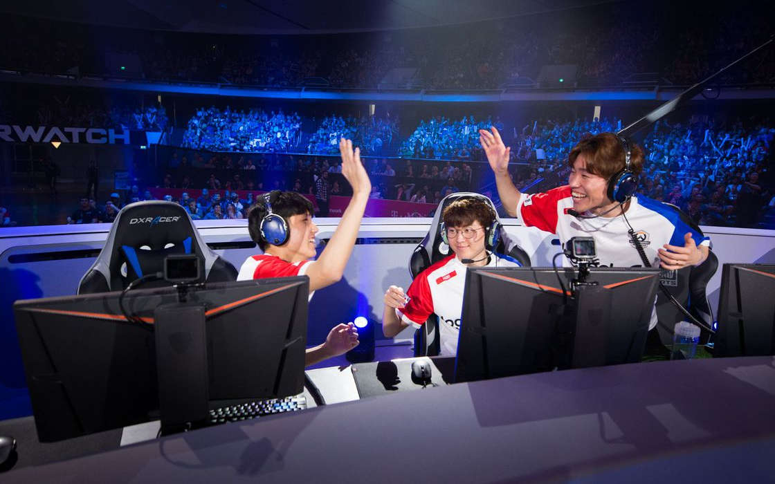 South Korea wins a game against the United States in Overwatch.